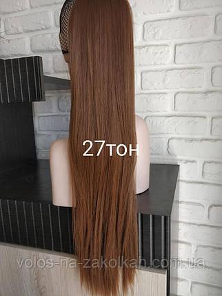 Хвост накладной на ленте цвет №27 русый с золотым, фото 2