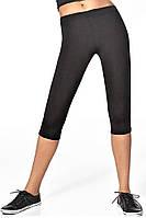 Женские легинсы для спорта BasBlack Forcefit 70, чёрные, короткие (3/4) S
