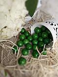 Зеленые деревянные бусины круглой формы, 30 шт,  диаметр - 2 см.,  15 гр., фото 2