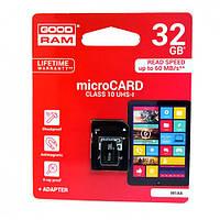 Карта памяти micro-SD 32Gb GOODRAM + переходник (10 CLASS)