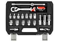 """Набір головок торцевих YATO 1/2"""" М10-24 мм з інструментами 20 шт"""