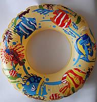 Надувной круг для плавания детский с ярким рисунком