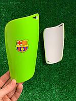 Щитки для футбола  Барселона Салатовые 1094(реплика)