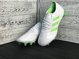 Бутсы Adidas Copa 19+FG/AG White(реплика)