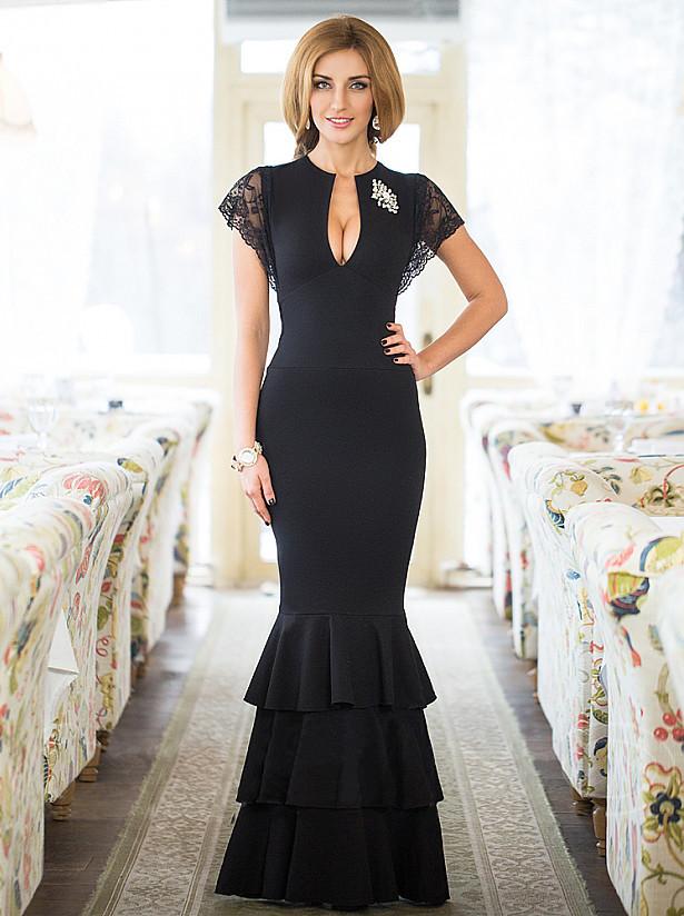 Шикарное длинное макси платье от  Lusien Q26, фото 1