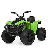 Детский квадроцикл Bambi M 4229EBR-5 цвет черный / салатовый для девочки мальчика 3 4 5 6 7 8 лет