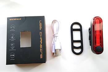 Задняя мигалка фонарь для велосипеда со встроенным аккумулятором
