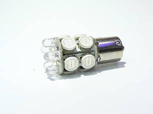 Светодиодная автолампа 1156(P21W)-S25-BA15s-10HP+6LED. CHI MING