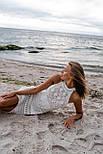 Женский сарафан белый вязаный ажурный, фото 7
