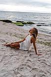 Женский сарафан белый вязаный ажурный, фото 6
