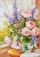 Набор для вышивания нитками LUCA-S Цветы у окна (BU4016)