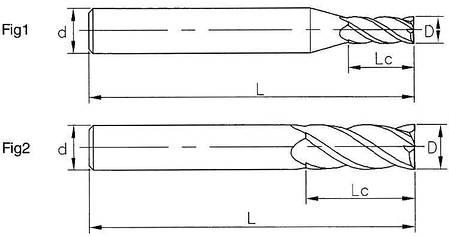 Ø3*12*3*100-4F Фреза твердосплавная концевая (55HRC), фото 2