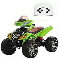 Детский квадроцикл Bambi M 3101(MP3)EBLR-5  цвет  салатовый для девочки мальчика 3 4 5 6 7 8 лет
