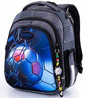 Ранец школьный рюкзак детский Winner One 5007 + часы ортопедический для мальчиков фабричный с мячом