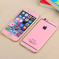 Защитное стекло (2in1) TG Premium Tempered Glass для iPhone 6/6S Pink Sparkle переднее + заднее