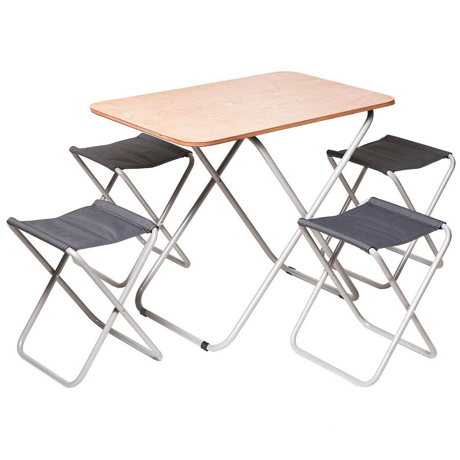 Комплект складаних меблів для відпочинку «Пікнік» стіл + 4 стільці