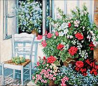 Набор для вышивания нитками LUCA-S Терраса с цветами (BU4017)