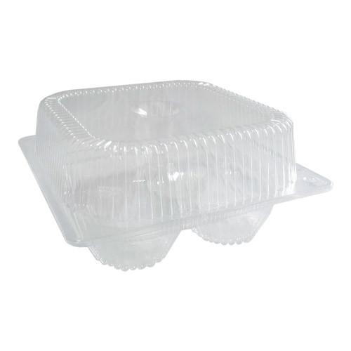 Контейнер пластиковый ПС-540 для кексов и пирожных - 4 шт .