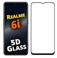 Защитное 5D стекло для Realme 6i (реалми 6 ай)
