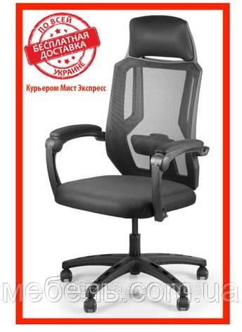 Кресло для врача Barsky CB-02 Color Black, сеточное кресло, черный, фото 2