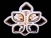 Потолочная люстра на 18кв.м с диммером и подсветкой цвет золото 110W Diasha&AS8073/4+4G LED 3color dimmer