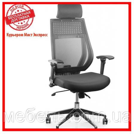 Офисный стул Barsky TBG-01 Team Black/Grey, сетка, фото 2