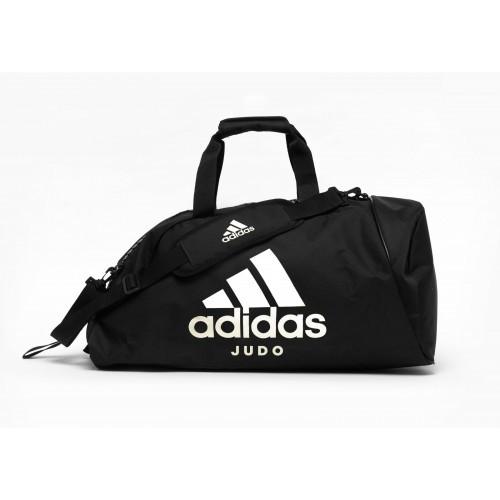 Сумка-рюкзак (2в1) с белым логотипом Adidas Judo (черный, ADIACC052J)