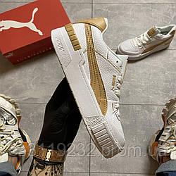 Женские кроссовки Puma Select Cali Sport Mix Beige (бело-бежевые)