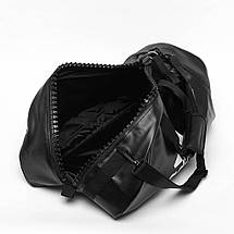 Сумка-рюкзак (2в1) с золотым логотипом Adidas Karate (черная, ADIACC051K), фото 2