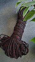 Шнур поліпропіленовий без сердечника 3мм Чорний з червоним люрексом