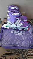 Качественные роликовые коньки (ролики) для детей Profi A 12101-L-V (39-42), цвет фиолетовый