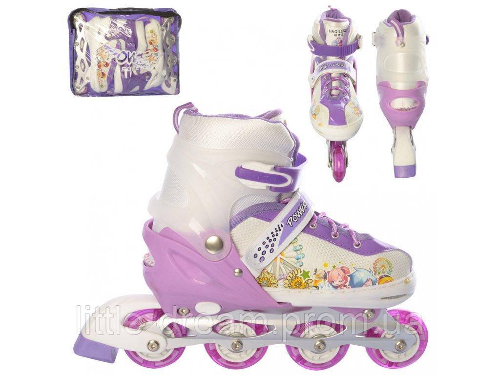 Роликовые коньки (ролики) A 12100-5-L-1 (39-42) Фиолетовый