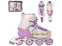 Роликовые коньки (ролики) A 12100-5-L-1 (39-42) Фиолетовый, фото 1
