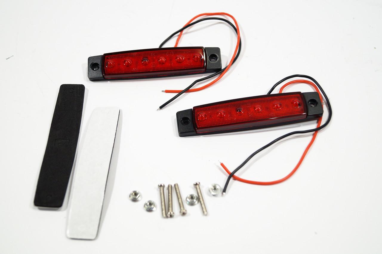 Габарит LED (NTK) 24v 6-ти діодний червоний