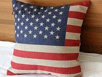 Чехлы на подушку Британский флаг/Флаг США, фото 1