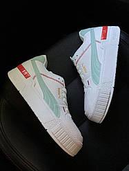 Женские кроссовки Puma Select Cali Sport White Blue (белые)
