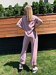 Жіночий лляний костюм: футболка і штани вільні кюлоти (в кольорах), фото 7