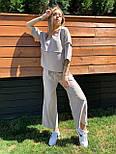 Жіночий лляний костюм: футболка і штани вільні кюлоти (в кольорах), фото 3