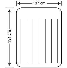 Велюр-кровать матрас полутораместный Intex 64142 с подголовником, размер 191*137*25 см, фото 3