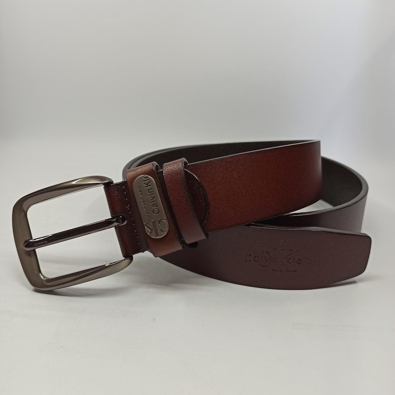 Шкіряний чоловічий ремінь/ Кожаный мужской ремень 02929 light-brown