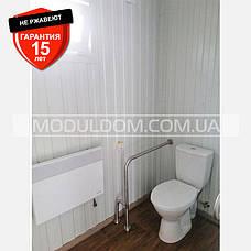 """Санитарный мобильный модуль """"Туалет"""" (5 х 2.5),  на основе цельно-сварного металлокаркаса., фото 2"""