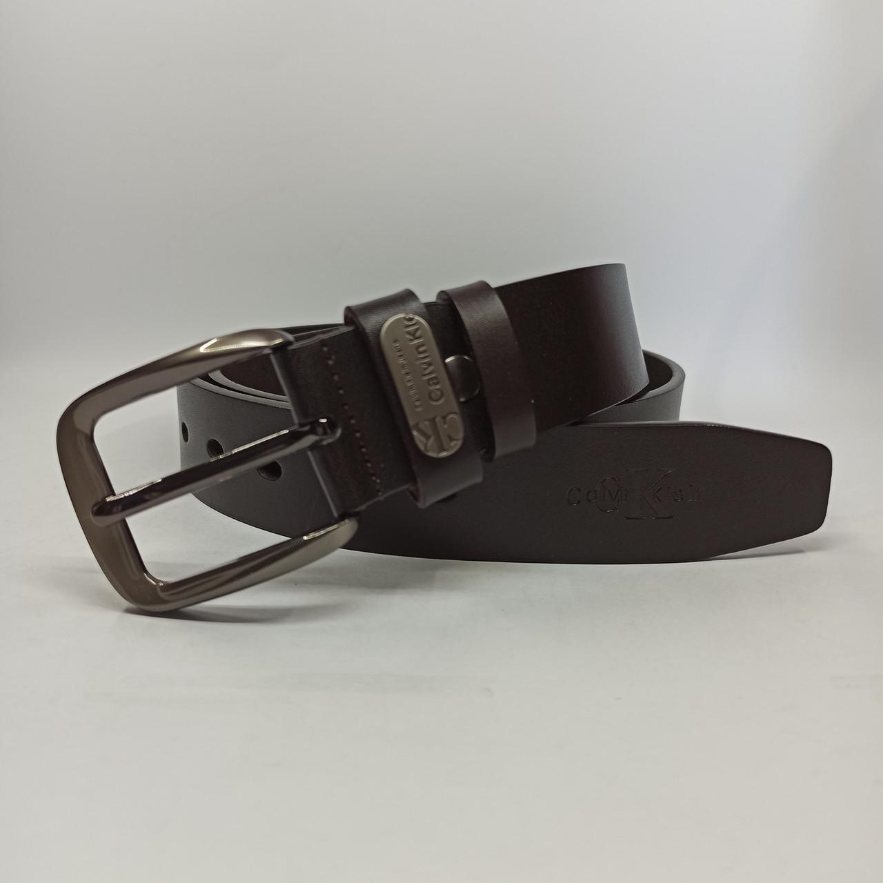 Шкіряний чоловічий ремінь/ Кожаный мужской ремень 02929 brown