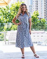 Женское красивое нарядное платье. удлинённое с поясом. Ткань софт. Размеры 50,52,54,56 Очень красиво смотрятся