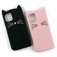 Резиновый 3D чехол Cat для IPhone 11 (Разные цвета), фото 1