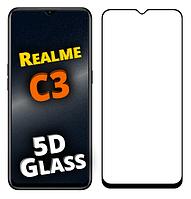 Защитное стекло 5D для Realme C3 (реал ми с3)