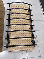 Чорний матовий рушникосушка з нержавіючої сталі MARIO 7/800 S 800*500
