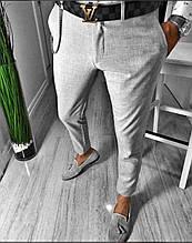 Мужские класические брюки серые лучшее качество Турция(Размер 29,31)