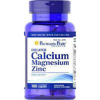Минеральный комплекс Puritan's Pride Chelated Calcium Magnesium Zinc (100 капс)