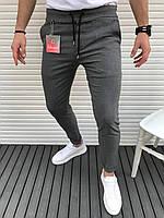 Мужские класические брюки темно-серые лучшее качество Турция(Размер S,XXL)