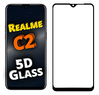 Защитное стекло 5D для Realme C2 (реал ми с2)